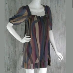 Weston Wear Womens Dress M Brown Purple Tan
